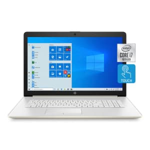 """HP 17-by3072cl 10th-Gen. Ice Lake i7 17.3"""" Touch Laptop w/ 512GB SSD for $869"""