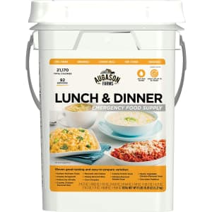 Augason Farms Lunch & Dinner Emergency Food Supply 4-Gal. Pail for $73