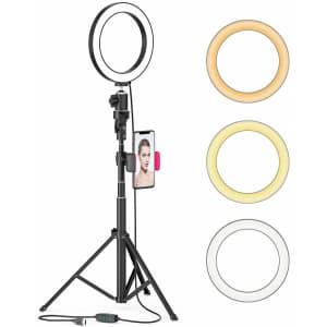 """Aptoyu 8"""" LED Selfie Ring Light for $23"""