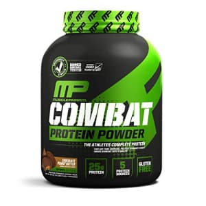 Muscle Pharm MusclePharm Combat Protein Powder, 5 Protein Blend, Chocolate Peanut Butter, 4 Pounds, 52 Servings for $72