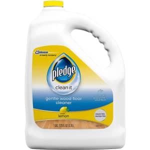 Pledge Wood Floor Cleaner Liquid 1-Gallon for $10