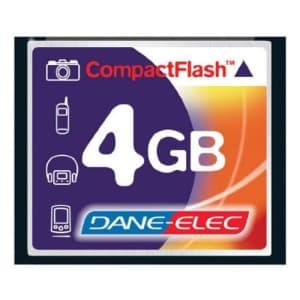 Dane Elec Canon EOS Rebel XTi Digital Camera Memory Card 4GB CompactFlash Memory Card for $17