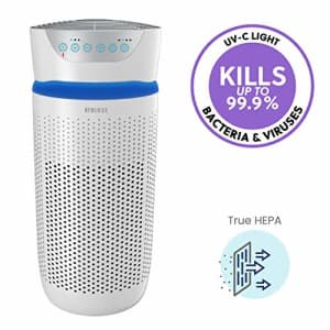 HoMedics TotalClean Tower Air Purifier for Viruses, Bacteria, Allergens, Dust, Germs, HEPA Filter, for $140