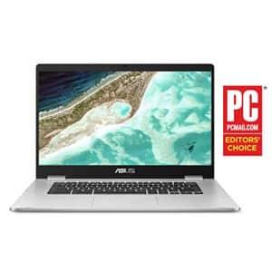 "ASUS Chromebook C523 Laptop- 15.6"" HD NanoEdge Display with 180 Degree Hinge, Intel Dual Core for $218"