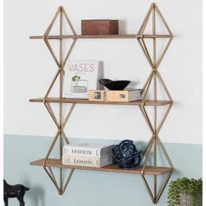 """Home Decorators Collection 37"""" 3-Tier Wall-Mount Bookshelf for $67"""