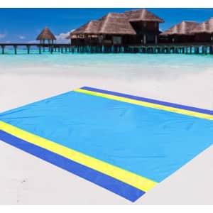 Aisparky Sand Proof Beach Blanket for $9