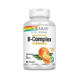 Solaray Vitamin B-Complex 250mg Natural Orange Flavor | Healthy Hair, Skin, Immune Function & for $26
