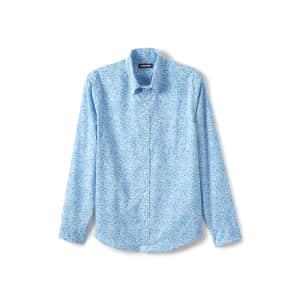 Lands' End Men's Traditional Fit Essential Lightweight Poplin Shirt for $8