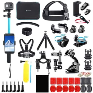 Artman 61-in-1 GoPro Camera Accessories Kit for $19