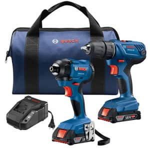 Bosch 18V 2-Tool Combo Kit with 1/2 In. Compact Drill/Driver and 1/4 In. Hex Impact Driver for $149
