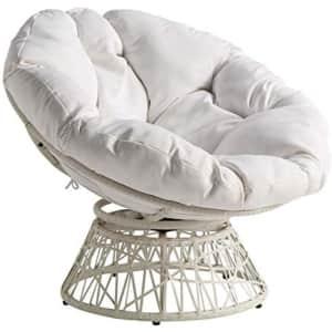 OSP Home Furnishings Wicker Papasan Chair w/ 360-Degree Swivel for $184