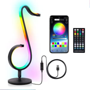 Qiumeio LED RGB Musical Note Smart Light for $30