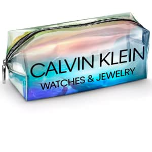 Calvin Klein Holographic Pouch at Macy's: Free w/ Calvin Klein watch or 2 pieces of jewelry