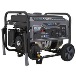 Pulsar 5,500W Dual Fuel Portable Generator for $514