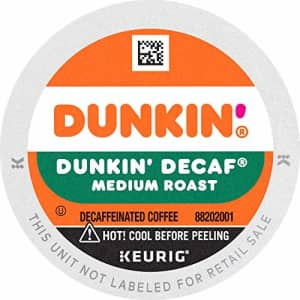 Dunkin Donuts Dunkin' Decaf Medium Roast Coffee, 60 K Cups for Keurig Coffee Makers (Packaging May Vary) for $45