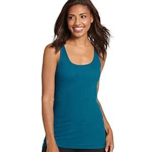 Jockey Women's Activewear Rib Tank, Teal Oasis, s for $18