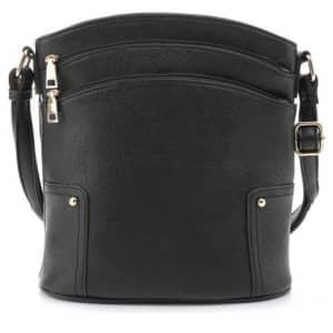 Kim Rogers Triple Zip Shoulder Bag for $34