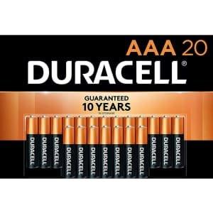 Duracell CopperTop AAA Alkaline Batteries 20-Pack for $16