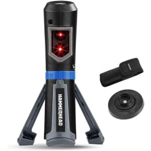 HammerHead Compact Self-Leveling Cross Line Laser w/ Tripod for $28