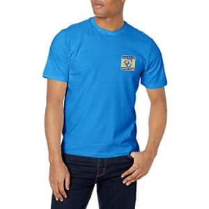 IZOD Men's Saltwater Short Sleeve Graphic T-Shirt, Blue Revival Beach Club, Small for $15