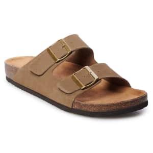 Sonoma Goods for Life Men's Willie Leather Sandals for $16