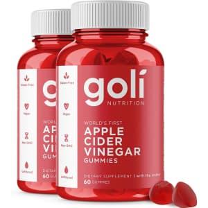 Goli Apple Cider Vinegar Gummy Vitamin 60-Count Bottle 2-Pack for $32