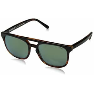 Polo Ralph Lauren Men's PH4125 Square Sunglasses, Top Black On Havana/Flash Green, 54 mm for $92