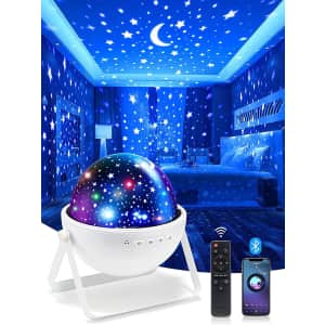 One Fire Bluetooth Galaxy Night Light Projector for $10
