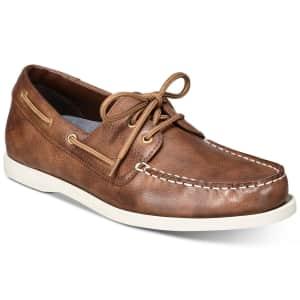 Weatherproof Vintage Men's Benny Boat Shoes for $20