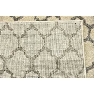 Unique Loom Trellis Collection Moroccan Lattice Beige/Gray Runner Rug (2' 0 x 6' 0) for $38