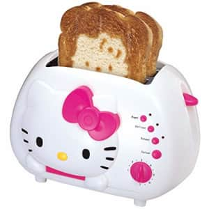 Hello Kitty 2-Slice Wide Slot Toaster With Cool Touch Exterior for $65