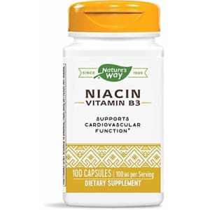 Nature's Way Niacin, 100 Capsules (Pack of 4) for $16