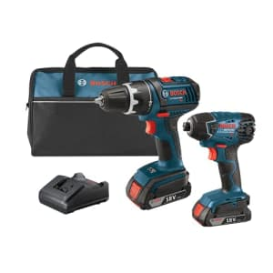 Bosch CLPK232-181 18V 2-Tool Combo Kit (Drill/Driver & Impact Driver) with (2) 2.0 Ah Batteries for $261