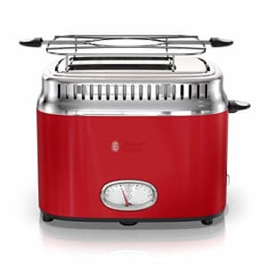 Russell Hobbs 2-Slice Retro Style Toaster, Red & Stainless Steel, TR9150RDR (Renewed) for $36