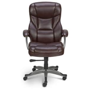 Quill Osgood High-Back Bonded Leather Manager Chair for $125