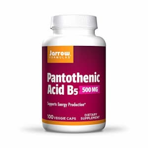 Jarrow Formulas Pantothenic Acid, B5, Supports Energy Production, 500 mg, 100 Capsules (Pack of 3) for $13