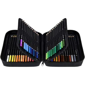 Orionstar 72-Count Colored Pencils Set with Zipper Case for $15