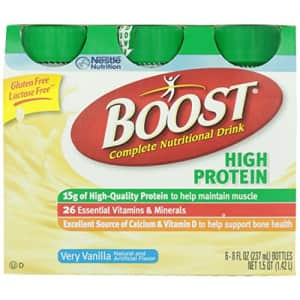 Boost High Protein Complete Nutritional Drink Vanilla Ready To Drink, 8 Fl Oz (Pack of 6) for $9