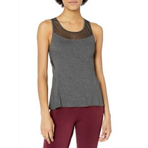 SHAPE activewear Women's Barre Tank, Charcoal, M for $44