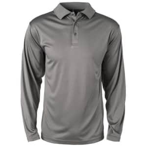 Reebok Men's Long Sleeve Contour Polo for $10