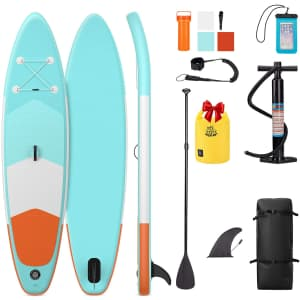 Deerfamy 10-Ft. Inflatable Stand Up Paddle Board for $196