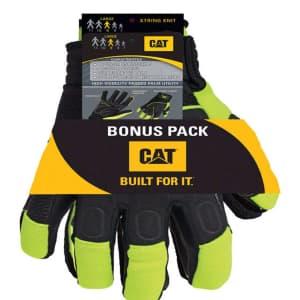 CAT Men's High-Vis Mechanics Gloves 2-Pairs for $10