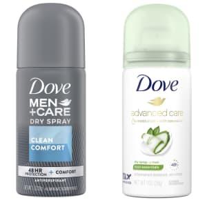 Dove Dry Spray Antiperspirant 1-oz. Sample for free