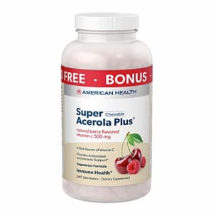 American Health Super Acerola Plus Chewable Wafers - Provides Antioxidant & Immune Support- Natural for $13