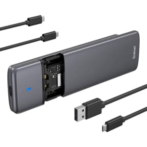 Sokiwi USB C to M.2 NVMe PCIe & M.2 NGFF SATA Enclosure for $40