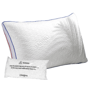 Sagino Double-Sided Queen Memory Foam Pillow for $20