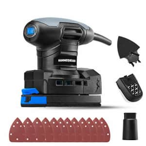 Hammerhead 1.4-Amp Multi-Function Detail Sander with 12pcs Sandpaper, Dust Collection System, and for $22