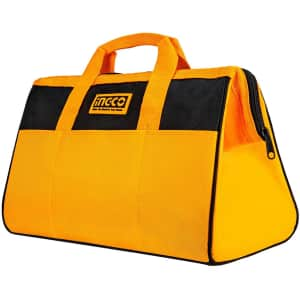 """Ingco 16"""" Wide Mouth Tool Bag for $12"""