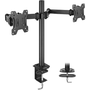 Huanuo Adjustable Dual Monitor Stand for $11