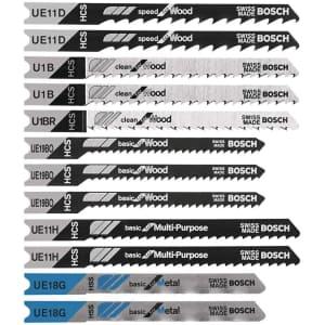 Bosch 12-Piece U-Shank Jigsaw Blade Set for $8